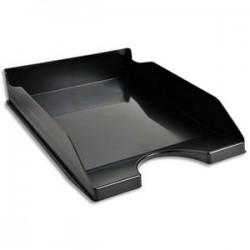 5 ETOILES Corbeille à courrier noire - Polystyrène - Dimensions : L25,5 x H6,5 x P34,5 cm