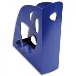 5 ETOILES Porte-revues bleue - Polystyrène - Dos de 7,7 cm, H25,7 x P24,8 cm