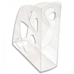 5 ETOILES Porte-revues cristal - Polystyrène - Dos de 7,7 cm, H25,7 x P24,8 cm