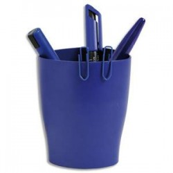 5 ETOILES Pot à crayons ECO bleu - Polystyrène Dimensions : L x H x P cm