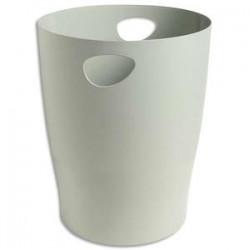 5 ETOILES Corbeille à papier 15L gris - Polystyrène - Diamètre 26 cm, hauteur 33,5cm