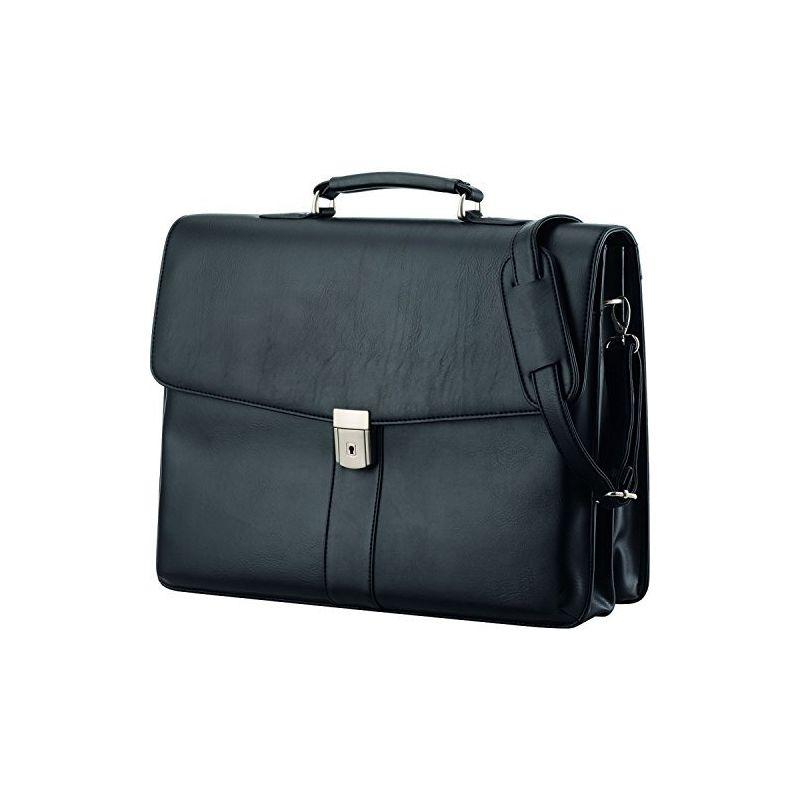 ALASSIO Malette noire Pescara imitation cuir avec plusieurs compartiments 31 x 41 x 12,5cm 47014