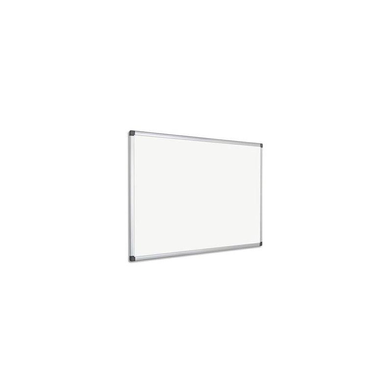 PERGAMY Tableau Blanc laqué magnétique, cadre aluminium, format : 60 x 45 cm