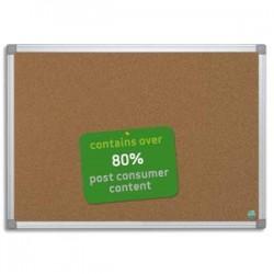BI-OFFICE Tableau liège recyclable cadre alu 100 x 150 cm