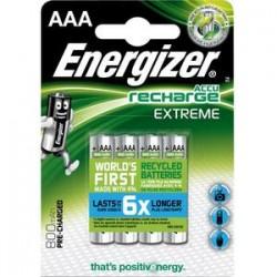 ENERGIZER Blister de 4 piles AAA LR03 Extrem recheargeable 800 mAh 7638900416879