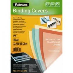 FELLOWES Boîte de 100 plats de couvertures PVC A4 180 microns 5375901