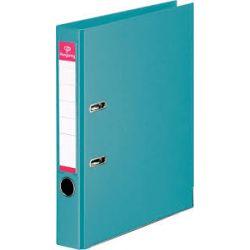 PERGAMY Classeur à levier en polypropylène intérieur/extérieur. Dos 5cm. Format A4. Coloris bleu canard