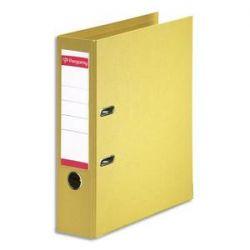 PERGAMY Classeur à levier en polypropylène intérieur/extérieur. Dos 8cm. Format A4. Coloris jaune