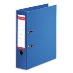 PERGAMY Classeur à levier en polypropylène intérieur/extérieur. Dos 8cm. Format A4. Coloris bleu roi