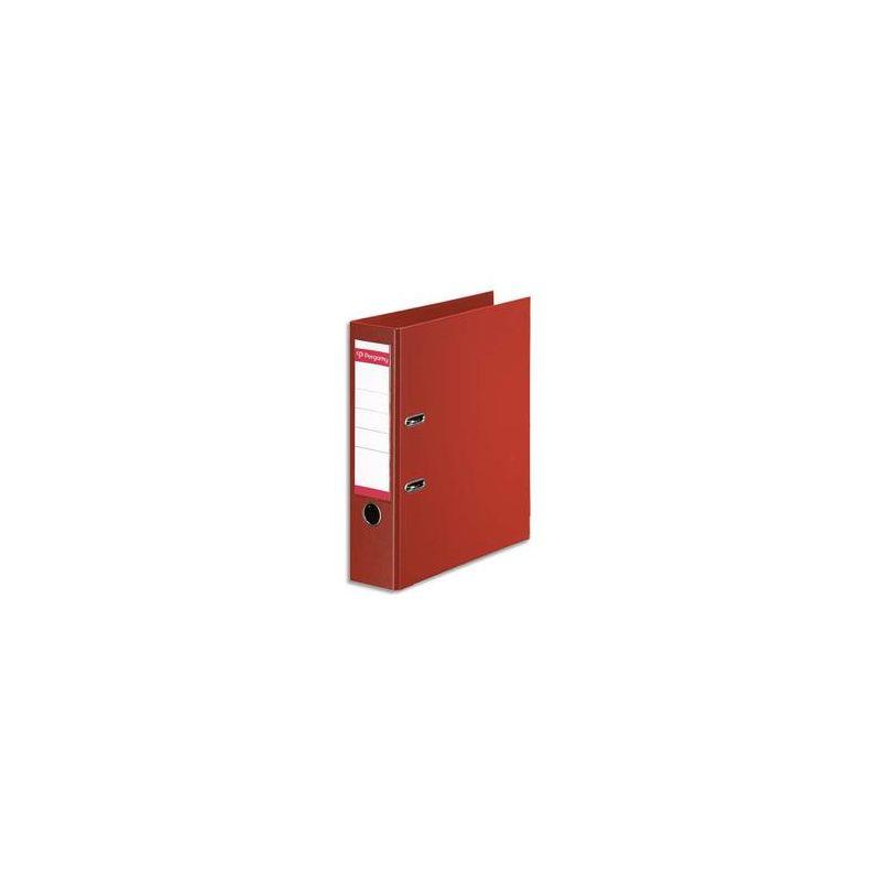 PERGAMY Classeur à levier en polypropylène intérieur/extérieur. Dos 8cm. Format A4. Coloris rouge