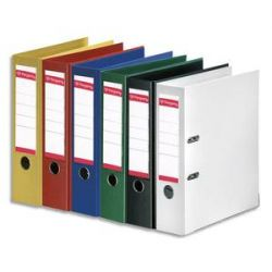PERGAMY Classeur à levier en polypropylène intérieur/extérieur. Dos 8cm. Format A4. Coloris assortis standard