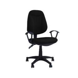 Chaise bureau q-connect rotative poids maximum supporté 100kg 1140x475x440mm coloris noir 11kg