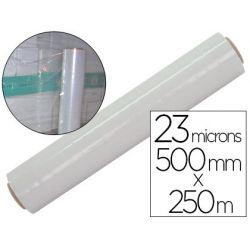 Film étirable 500mmx250m épai sseur 23 microns transparent