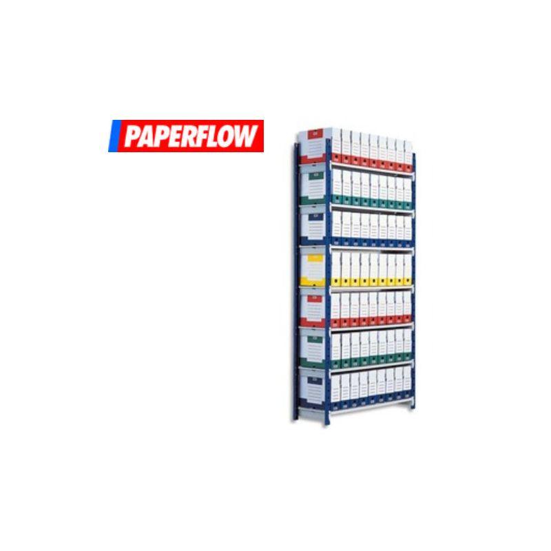 PAPERFLOW Rayonnage Rang'Eco tubulaire élément Départ en acier, 5 tablettes - Dim. L100 x H200 x P 34 cm