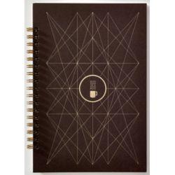PAPETTE Carnet BIBLIO carte marron 300g reliure intégrale, 100 pages 115g 6x6 + page uni. 13,5x19,5mm