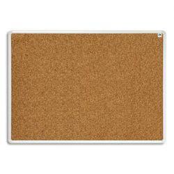 VANERUM Tableau d'affichage surface en liège, cadre en aluminium strié naturel - Format L180 x H90 cm