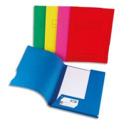 ELBA Paquet de 50 sous-dossiers 180g à 2 rabats. Coloris assortis bleu, vert, rouge, rose, jaune