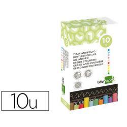 Craie liderpapel enrobée ronde anti-poussière tracé écriture douce hypoallergénique coloris assortis boîte 10u
