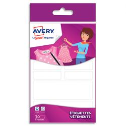 AVERY Blister de 30 étiquettes vêtements Formes assorties