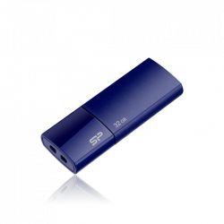 CAP DISTRIBUTION Clé USB 2.0 rétractable Silicon Power U05 Bleue 32Go SP032GBUF2U05V1D