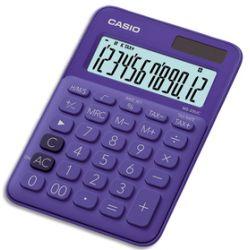 CASIO Calculatrice de bureau 12 chiffres Violette MS-20UC-PL-S-EC