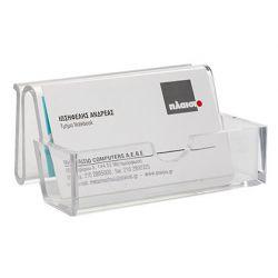 Porte-cartes q-connect méthacrylate 50-60 cartes présentoir 110x70x31mm