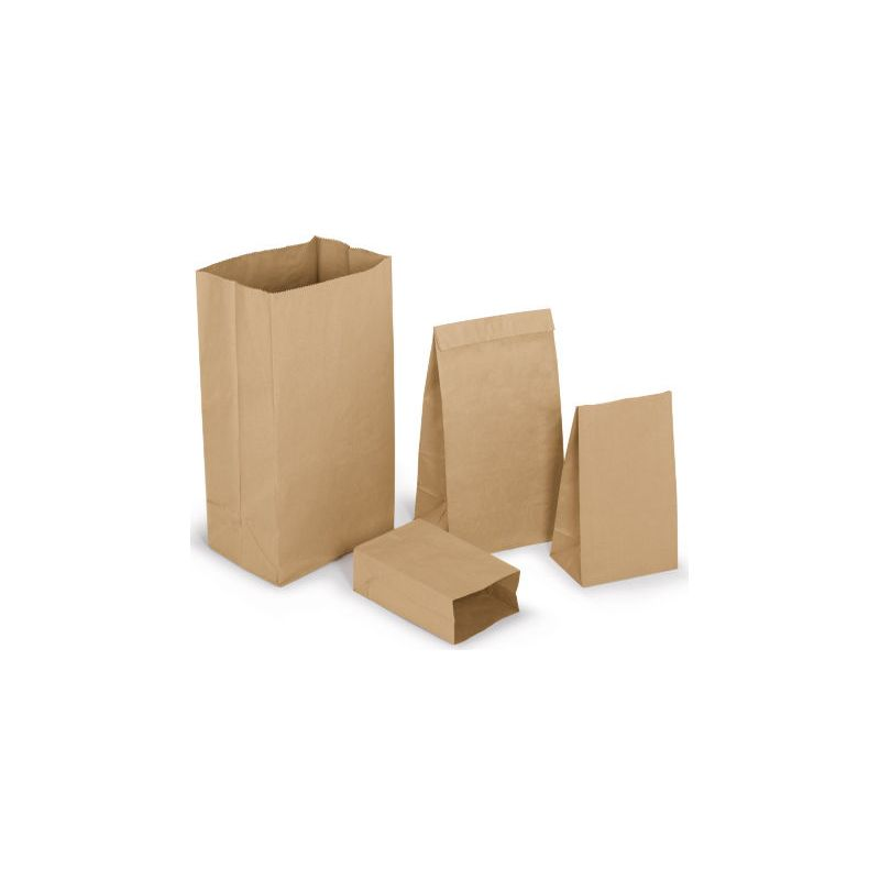 Sac kraft brun recyclé résistant sans poignées 140 g/m² 36x67 cm