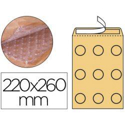 Pochette q-connect bulles air 220x260mm 82g kraft matelassé rabat droit auto-adhésive sans fenêtre