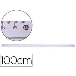 Règle q-connect 100cm base caoutchouc millimétrée biseautée gamme aluminium économique étui plastique