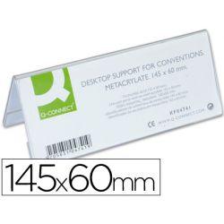 Chevalet q-connect porte-noms méthacrylate idéal système identification 145x60mm