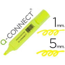 Surligneur q-connect tracé 2/5 mm pointe biseautée couleurs éclatantes jaune