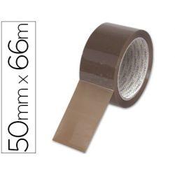 Ruban adhésif q-connect économique spécial emballage haute adhérence 50mmx66m coloris havane
