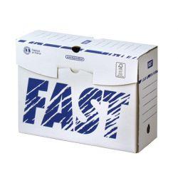 Boîte archives paperflow carton ondulé blanc document rigide 250x330mm dos 150mm livré plat coloris blanc