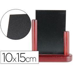 Tableau noir liderpapel bois hôtellerie double face marqueur type craie 10x15cm