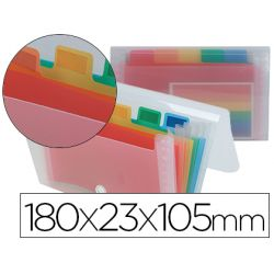 Trieur liderpapel série spectrafile pp 500 microns 180x230x105mm 6 compartiments fermoir coloris frosty transparent