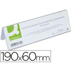 Chevalet q-connect porte-noms méthacrylate idéal système identification 190x60mm