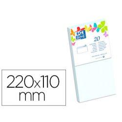 Enveloppe oxford vélin 110x220mm 120g coloris blanc étui 20 unités