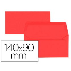 Enveloppe oxford vélin 90x140mm 120g coloris rouge étui 20 unités