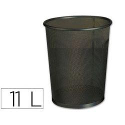 Corbeille à papier q-connect maille métallique forme circulaire 11l 235x260x190mm coloris noir