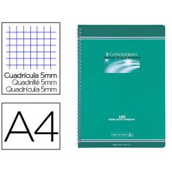 Cahier conquérant sept reliure intégrale couverture offset a4 21x29,7cm 100 pages 70g 5x5mm