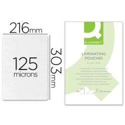 Pochette plastification q-connect à chaud économique format a4 125 microns boîte 100 unités