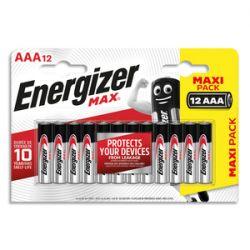 ENERGIZER Blister de 12 piles AAA LR03 max