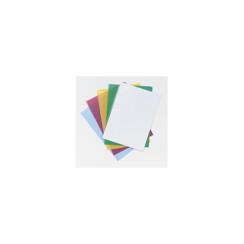 Pochette coin q-connect polypropylène grainé économique 12/100e coloris assortis transparent boîte 100 unités