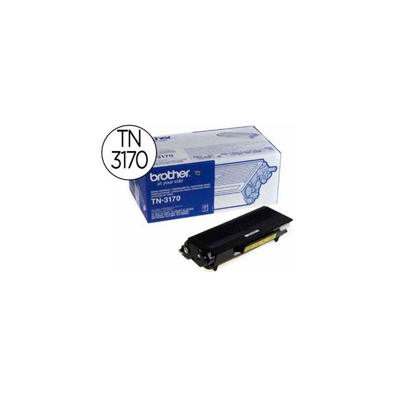 Toner laser brother TN3170 couleur noir haute capacité 7000p