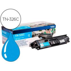 Toner laser brother TN326C couleur cyan 3500p