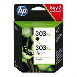 HP Pack de 2 cartouches Jet d'encre 303XL Noir +3 couleurs haute capacité 3YN10AE