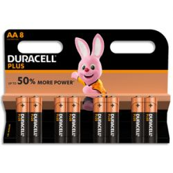 DURACELL Blister de 8 Piles Alcaline 1,5V AA LR6 Plus Power 5000394017764