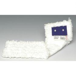 BROSSERIE THOMAS Frange de rechange Blanche en microfibre à bouclettes, oeillet chromé, Format 40 x 17 cm