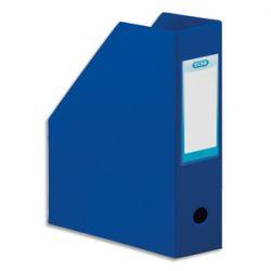 OXFORD Porte-revues en PVC soudé, dos de 10 cm 32x24cm, livré à plat. Coloris Bleu foncé