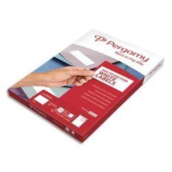 PERGAMY Boîte 4000 étiquettes 52,5x29,7mm multi-usage en planche A4. Coins carrés